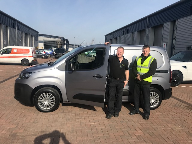 Delivery of new van to client